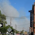 Smoke seen from downtown Old Town Pocatello.