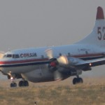 Immediately following tanker 41 is the ancient Convair CV-580, operated by Canada's CONAIR.