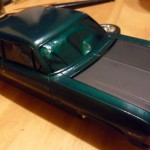 More paint experiments: The body is Rust-Oleum's Hammered Green, and the hood is HD's flat black.