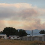 Lead Draw Fire as seen from the north west side of 'Old Town' Pocatello (off North Main Street), Sunday evening.