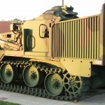 Late Cold War era M9 Armored Combat Earthmover (ACE).  Air transportable, and with the right equipment it is amphibious.