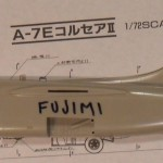 The Fujimi/Testors kit is narrow at the exhaust, and the vertical tail is too tall.