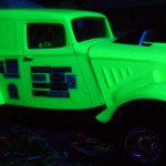I used black light reactive paint.
