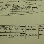 These Weimar era ship specifications show the original displacement marked out and replaced with a bogus displacement of 10,000 tonnes.