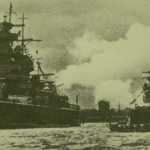This pre-1939 photo shows Graf Spee and Scheer with identical towers.