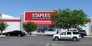 Staples on Hurley Drive in Pocatello, Idaho, shutting down in August.