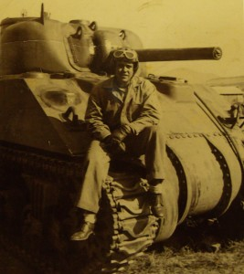 O.G. Hutchins, tank commander M4 Sherman